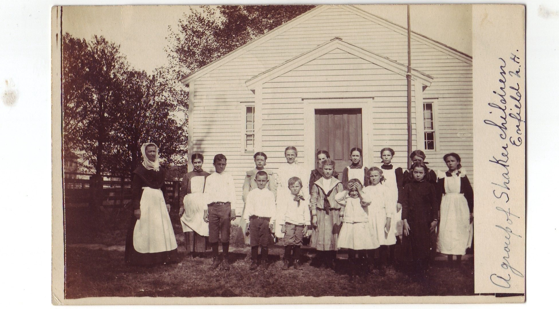 Enfield Shaker School Children with Sister Fanny Fallon