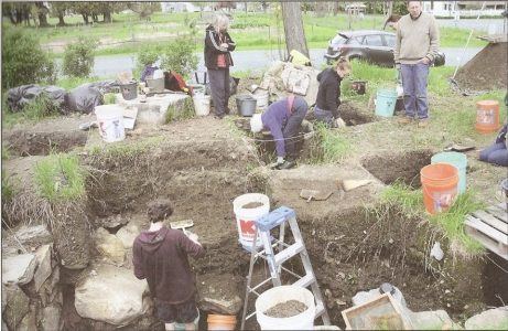 Archaeology dig at the Boy's Shop