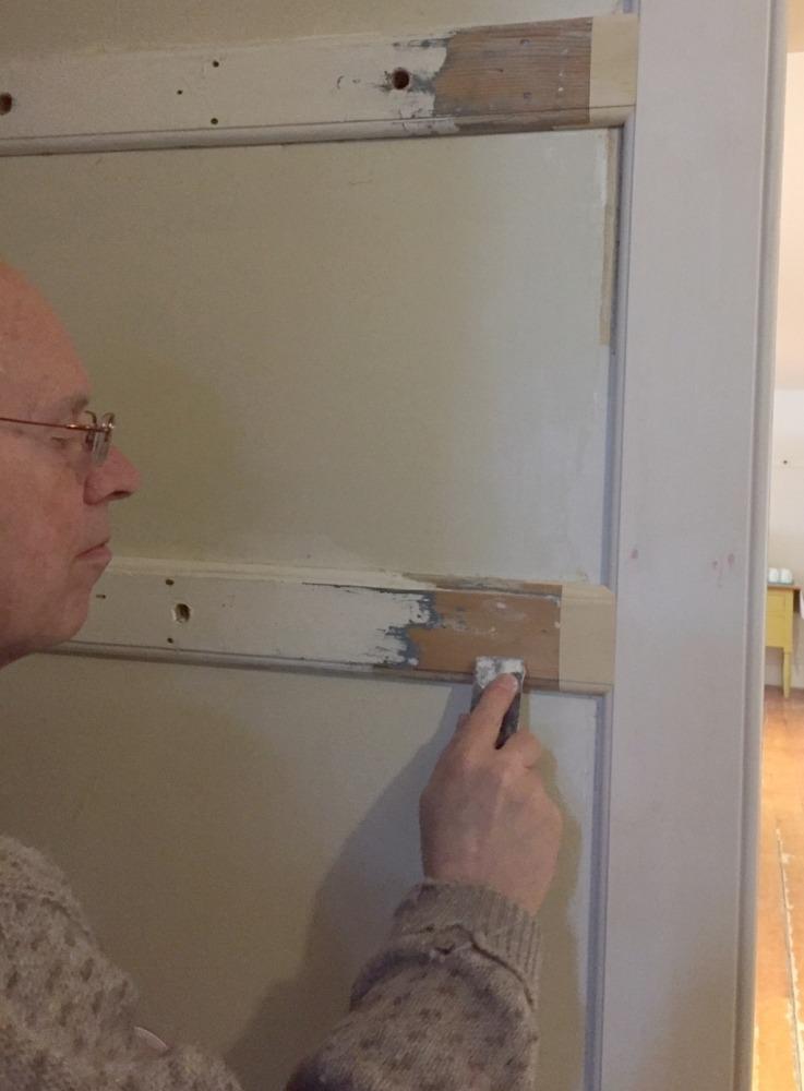 Enfield Shaker preservation dining room door trim preparation