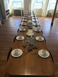 Original table in the Dining Room of the Great Stone Dwelling