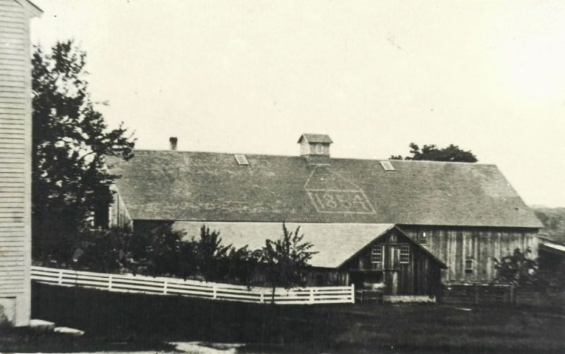 Enfield Shaker preservation 1854 Cow Barn historic photo