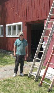 Painter Ken Morin - Enfield Shaker preservation