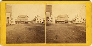 Stereoview of Enfield, NY Shaker Village - View of the Shaker Grist Mill.