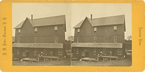 Stereoview of Enfield, NH Shaker Village - The Shaker Grist Mill.