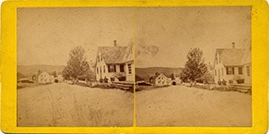 Stereoview of Enfield, NY Shaker Village - Street View in Enfield, NH.