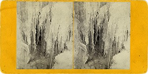 Stereoview of Enfield, NY Shaker Village - Winter View on the Mascoma.