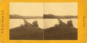 Stereoview of Enfield, NH Shaker Village - Shaker Bridge on Mascoma Lake.