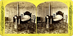 Stereoview at Enfield, NH Shaker Village - Room No. 7, Stone Dwelling House.