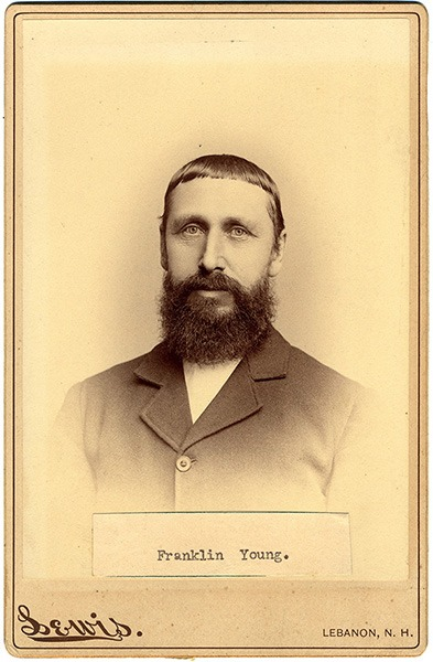 Franklin Young Cabinet Card