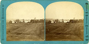 Stereoview of Canterbury, NH Shaker Village - Middle Family.