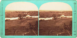 Stereoview of Canterbury, NH Shaker Village - Mill at the Pond.