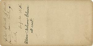 Reverse Side of Stereoviews in this Brigham series on grey cardstock.