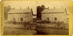 Stereoview of Enfield, NH Shaker Village - South Family Stone Office.