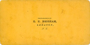 Reverse Side of Stereoviews in this Brigham series on yellow cardstock.