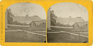 Stereoview of Enfield, NH Shaker Village - Church Family Cow Barn.
