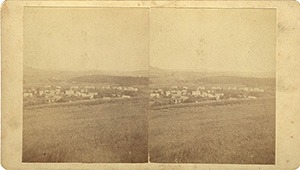 Stereoview of Enfield, NH Shaker Village - View of North Enfield, New Hampshire.