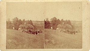 Stereoview of Enfield, NH Shaker Village - Between North Enfield and Lebanon, New Hampshire.