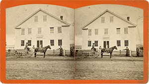 Stereoview of Enfield, NH Shaker Village - Office.