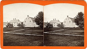 Stereoview of Enfield, NH Shaker Village - Ministry's Dwelling and Church.