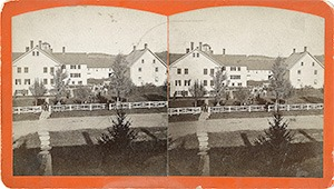 Stereoview of Enfield, NH Shaker Village - Dwelling House at South Family.