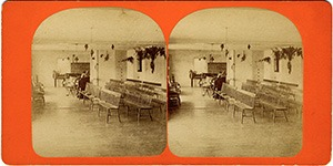 Stereoview of Enfield, NH Shaker Village - Music Room.