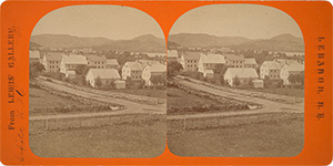 Stereoview of Enfield, NH Shaker Village - Looking northeast to the South Family.