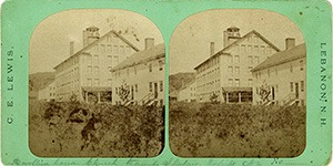 Stereoview of Enfield, NH Shaker Village - Office and dwelling houses.