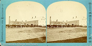 Stereoview of Canterbury, NH Shaker Village - Ox Team