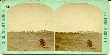 Stereoview of Canterbury, NH Shaker Village - General View of the Village from south-west.