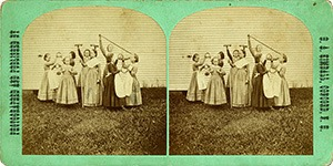 Stereoview of Canterbury, NH Shaker Village - Gymnastic Exercises