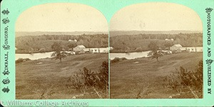 Stereoview of Canterbury, NH Shaker Village - Mill at the Pond