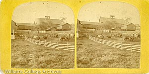 Stereoview of Enfield, CT Shaker Village - North Family Barn.