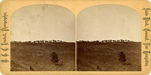 Stereoview of Canterbury, NH Shaker Village - General View of the Village from the south-west.
