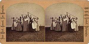 Stereoview of Canterbury, NH Shaker Village - Gymnastic Excercises.