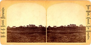 Stereoview of Canterbury, NH Shaker Village - North Family.