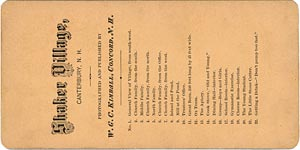 List of Stereos in this W. G. C. Kimball Series