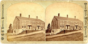 Stereoview of Canterbury, NH Shaker Village - Trustees' Office.