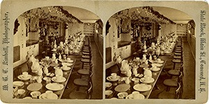 Stereoview of Canterbury, NH Shaker Village - Dining Hall.