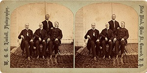Stereoview of Canterbury, NH Shaker Village - Shaker Brothers.