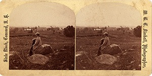 Stereoview of Canterbury, NH Shaker Village - William Briggs on Tebbits Hill.