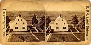 Stereoview of Canterbury, NH Shaker Village - The Church.