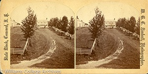 Stereoview of Canterbury, NH Shaker Village - View Sunday Morning.
