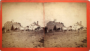 Stereoview of Enfield, CT Shaker Village - South Family General View.