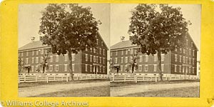 Stereoview of Hancock, MA Shaker Village - Church Family Dwelling House.
