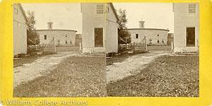 Stereoview of Hancock, MA Shaker Village - Round Stone Barn.
