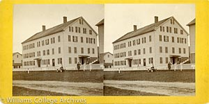 Stereoview of Hancock, MA Shaker Village - East Family Dwelling House.