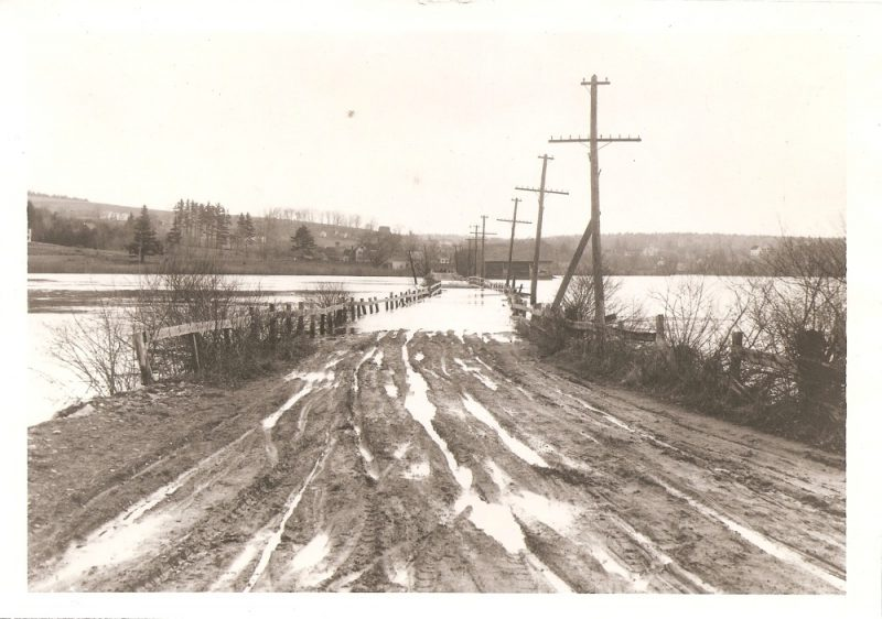 Shaker bridge after the Hurricane of 1938