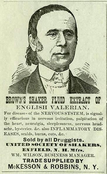 Brown's Shaker Fluid Extract of Valerian Advertisement
