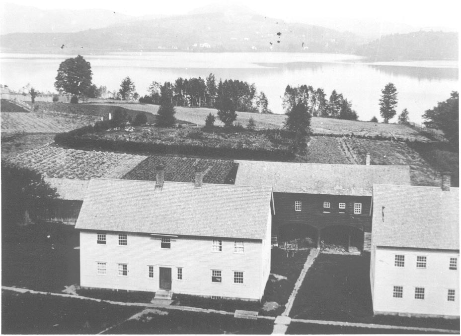 View of the cemetery ca. 1870 from the cupola of the Great Stone Dwelling.