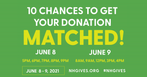 NH Gives 2021: 10 Chances to Get Your Donation Matched!